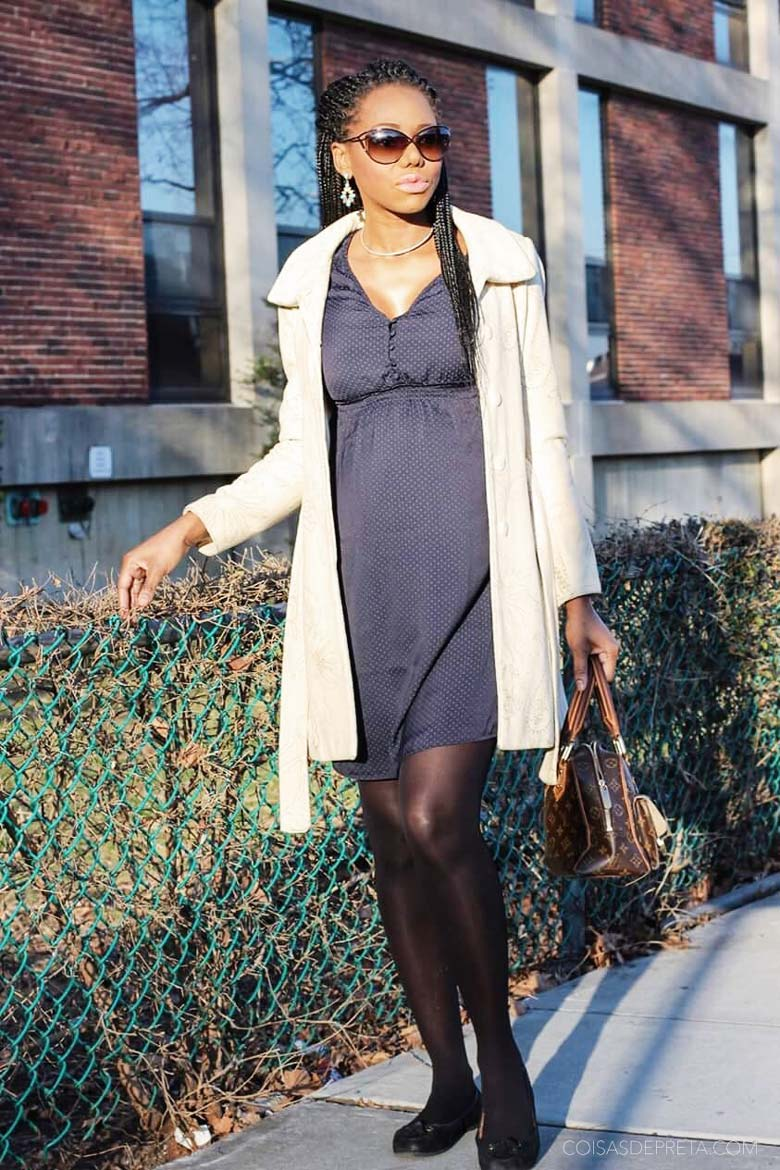 Look of the day: Winter in Blue